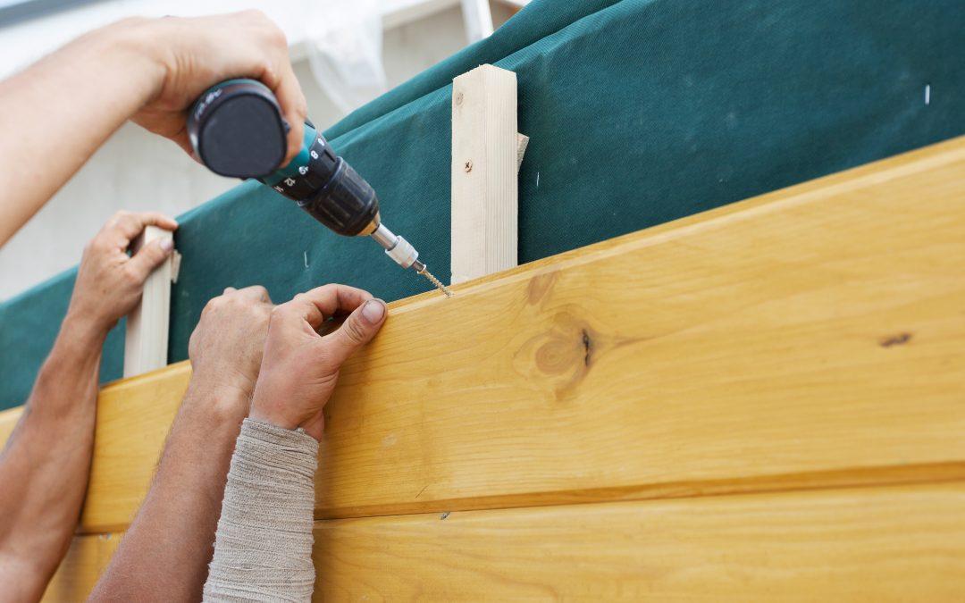 Befestigungen von Holzfassaden